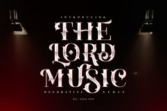 The Lord Music - Decorative font Product Image 1