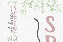 Oh Hello Spring SVG   Vertical Porch Sign   Farmhouse Style Product Image 2