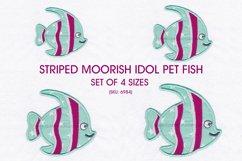 Striped Moorish Idol Pet Fish Applique Design Product Image 1