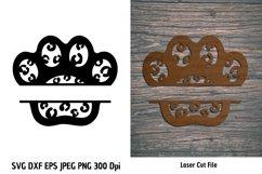 Animal Print Paw SVG| Pet Paw cutting files| Paw Print SVG Product Image 1