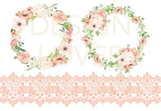 Watercolor Peach Romance design Product Image 4