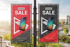 Vertical Outdoor Advertising Banner Mockup Product Image 5