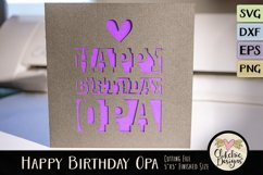 Happy Birthday Opa Card SVG - Birthday Card Cutting File Product Image 2