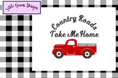 Red Vintage Truck Toilet Paper Embroidery Designs 3 designs Product Image 3