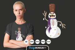 Evil Snowman for T-Shirt Design Product Image 1