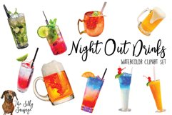 Alcohol Drink Watercolor Clipart Product Image 1