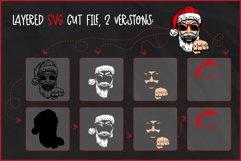 Christmas SVG, Cool Santa SVG,Biker Christmas T-shirt Design Product Image 2