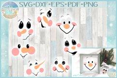 Snowman Face Bundle SVG Dxf Eps Png PDF Files for Cricut Product Image 1