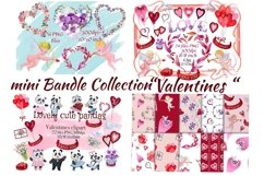 Bundle Valentines. Valentines Day clipart.Digital paper. Product Image 1