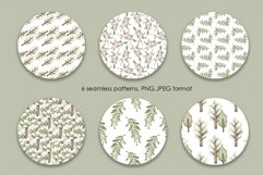 """Watercolor ClipArt """"Sweet greenery"""" Product Image 5"""