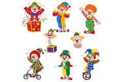Set of Fourteen Cartoon Clowns Character Product Image 2