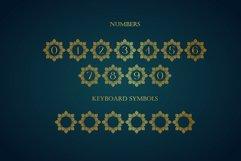 Diamond Mandala Monogram Split Font Duo Product Image 6