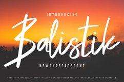 Balistik | Modern Script Font Product Image 1