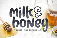 Milk & Honey Font Product Image 1