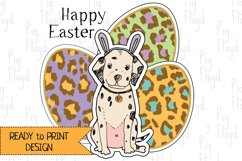 Easter Clipart, Eggs Clipart, Bunny, Puppy, Dalmatia Product Image 3