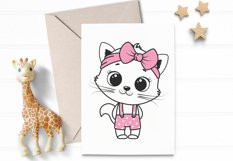 Cute Cat clipart, boy and girl, PNG, SVG, EPS Product Image 4