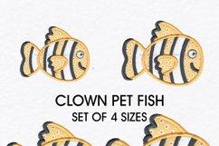 Clown Orange White and Black Pet Fish Applique Product Image 1