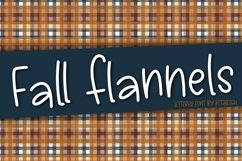 Fall Flannels a Hand Lettered Font Product Image 1