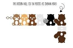 Beaver Easter egg holder design SVG / DXF / EPS Product Image 2
