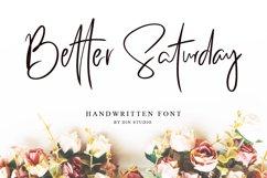 Better Saturday - Classy Handwritten Product Image 1