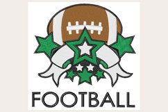 Football Banner & Stars - Machine Embroidery Design Product Image 1
