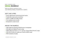 2000 Lightroom Presets MEGA BUNDLE Product Image 3