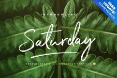 The Saturday Typeface Product Image 1