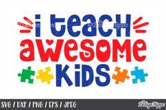 Autism Teacher, SVG Bundle of 10 Designs, DXF PNG Cut Files Product Image 3