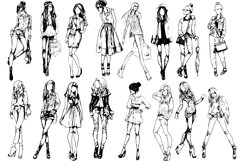 50 fashion pretty girls vector Product Image 3