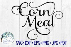 Corn Meal Label, Kitchen, Pantry, Cut File Product Image 1