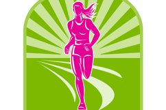 female marathon runner front view Product Image 1