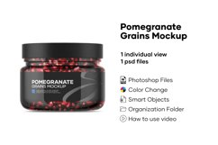 Pomegranate Grains Mockup Product Image 1