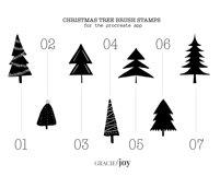 Christmas Tree Procreate Stamp Brush Product Image 4