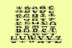Split Letters A-Z SVG Vectors Svg Dxf Png Jpg Eps Product Image 3