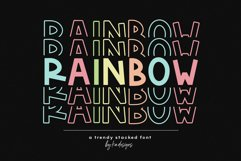 Rainbow - A Fun Stacked Font Product Image 1