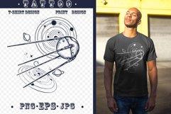 Sputnik space ship tattoo Product Image 1