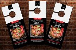 Pizza Resturant Door Hangers Product Image 2