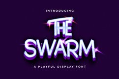 The Swarm - Playful Display Font Product Image 1