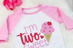 I'm two sweet birthday SVG, Second birthday girls cut file Product Image 2
