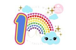 1st Birthday svg | My 1st Birthday svg | Rainbow Birthday Product Image 1