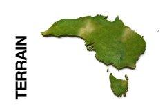 AUSTRALIA 3D Maps Images Dry Earth Snow Grass Terrain Sand Product Image 2