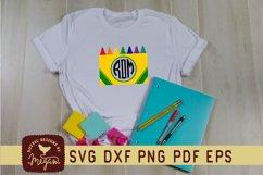 Back To School Crayon Monogram SVG Product Image 1