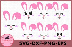 Bunny Easter SVG, Bunny Face Clipart, Rabbit Svg, Cutie SVG Product Image 1