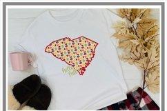 South Carolina Autumn Fall Leaves Pattern SVG Product Image 2
