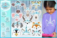 Snowflakes SVG | Smiling Animal Faces Snowflakes SVG Bundle Product Image 1
