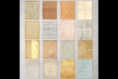 30 Folded Crumpled Antique Vintage Old Papers 8.5x11 Vol.3 Product Image 3
