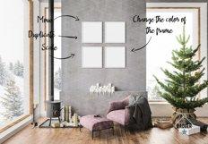 Christmas Interior Bundle - Frame & Canvas Mockup Creator Product Image 5