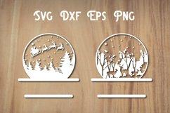 Christmas Snow Globe SVG File, Christmas svg Product Image 2