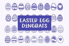 Web Font Easter Egg Dingbats - smooth cuttable easter egg do Product Image 1