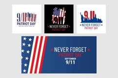 Patriot day banners. September 9\11 patriotic memorial Product Image 1